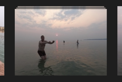 GoPro burst photos in a stack in Apple Photos grid view